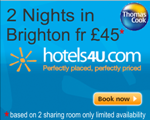 Budget rooms in Brighton from £45pp for two nights